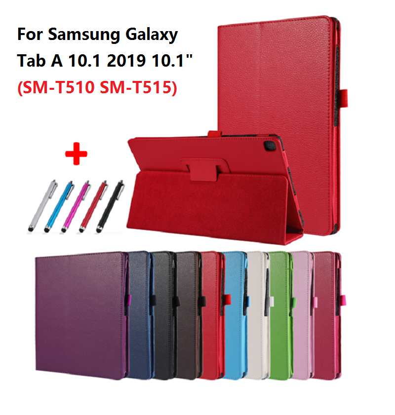 Case Cover Tablet SM-T510 Galaxy Samsung PU for Tab-A Pen Fold-Stand Flip