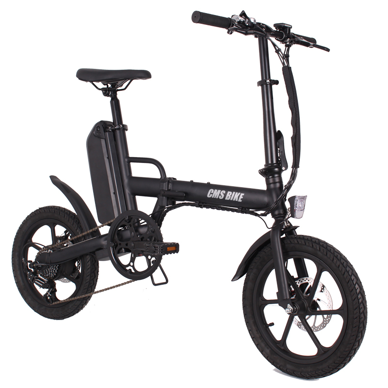 16 inch intelligent disc brake foldable electric bike 6 speed brushless motor folding e-bike 3