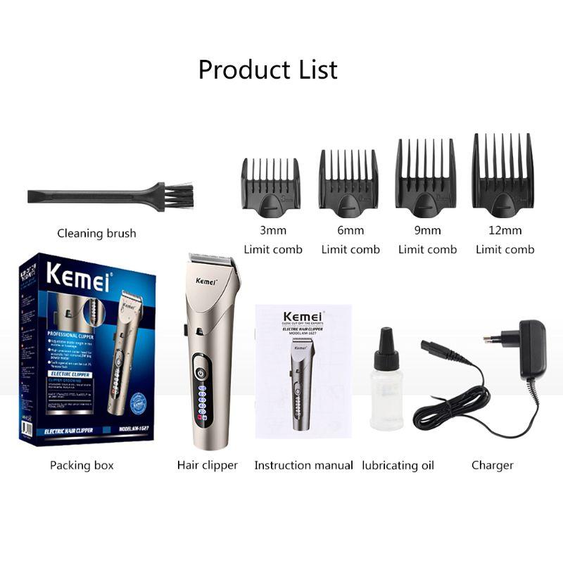 1 Set de tondeuses à cheveux électriques professionnelles sans fil Rechargeable tondeuse à cheveux rasoir rasoir barbier rasoir
