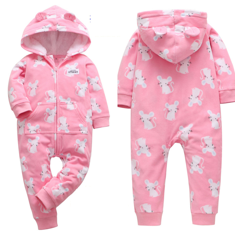 H37e97a99c0ba4e2086bc748d1b69b270m 2019 Fall Winter Warm Infant Baby Rompers Coral Fleece Animal Overall Baby Boy Gril Halloween Xmas Costume Clothes Baby jumpsuit