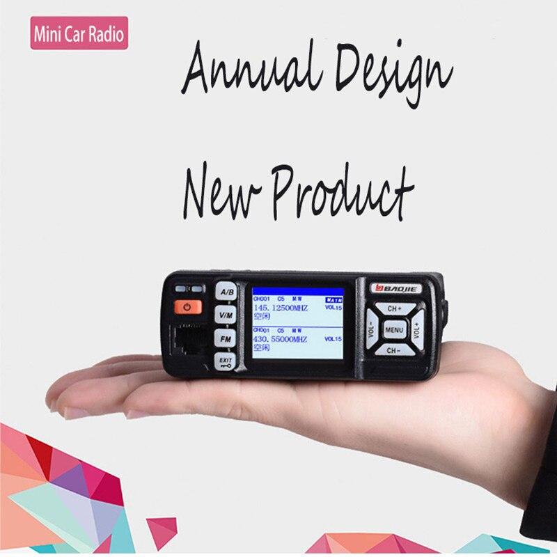 1pz Mini Powerful 25W Dual Band VHF UHF Car Radio BJ-318 Radio Comunicador Profissional Car Talkie 2-Way CB Radio Stations 10 Km