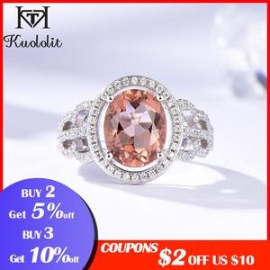 Image 2 - Kuololit Zultanite Edelstein Ringe für Frauen Solide 925 Sterling Silber Farbe Ändern Diaspore Handgemachte Braut Geschenke Edlen Schmuck