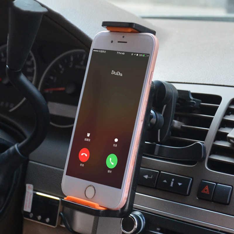 ドゥダ携帯電話サポート電話でカーエアコンマウントサポート携帯電話スタンド自動車電話ホルダーユニバーサル