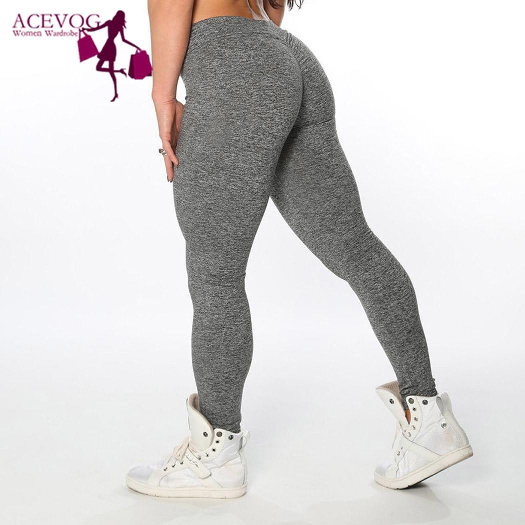 Fashion Women Yoga Fitness Running Gym Stretch Sports Pants Elastic Waist Trousers Leggings All seasons Casual