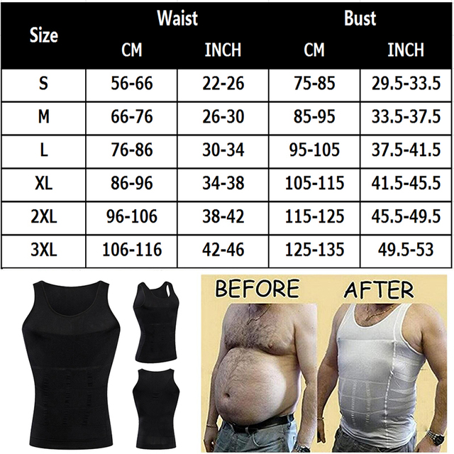 Be-In-Shape Men's Slimming Vest Body Shaper Belly Control Posture Gynecomastia Compression Shirt Underwear Waist Trainer Corset