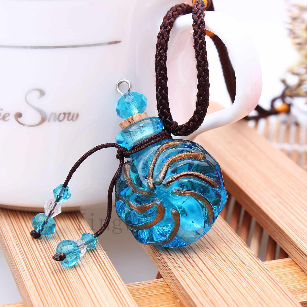 Yingwu murano szklany wisiorek olejek naszyjnik dyfuzor biżuteria perfumy naszyjniki dyfuzor wisiorki darmowa wysyłka