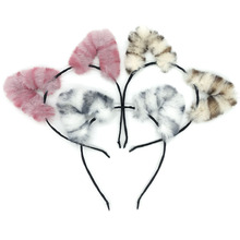 New Fashion Cute Children Autumn and Winter Style Plush Rabbit Ears Headband Fascinator Hair Accessories for Women Girls Headdr