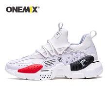 Onemix tênis de corrida para homem aumentando 4cm ulzza harajuku amortecimento altura plataforma malha respirável esportes andando