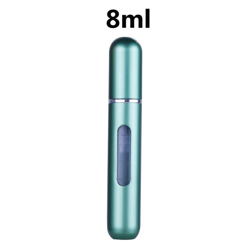 Anpro 5/8 мл Духи, спрей, Заправляемый бутылка Алюминий распылителем Портативный, косметичка для путешествий, контейнер флакон духов - Цвет: 8ml matte green