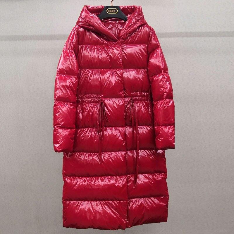 90% White Duck Down Jacket 2019 Winter Jacket Women Thick Down Parka Female Winter Warm Coat For Women Waterproof Glossy Outwear