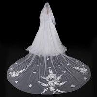 Bridal Long Veil Floral Appliques Veil Wedding Veils Wedding Accessories