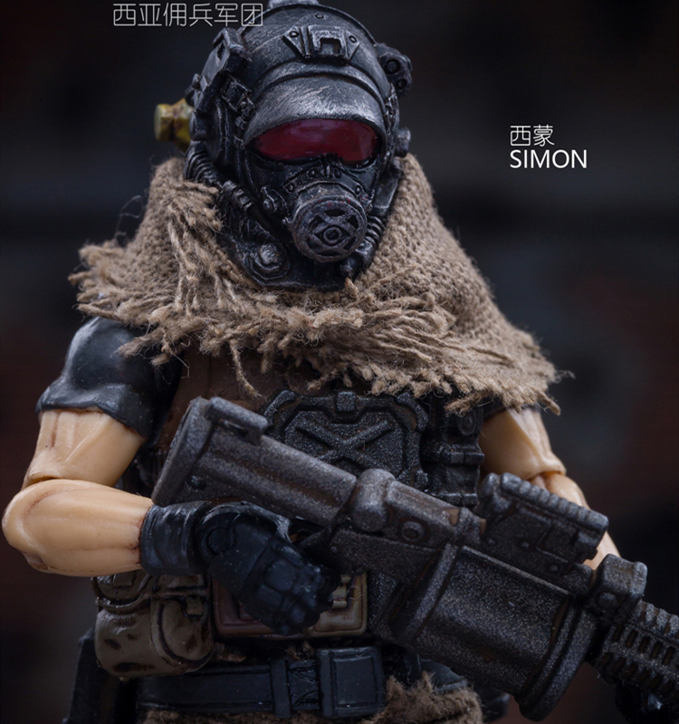 JOYTOY 1/18 Model Toys SIMON Soldier Joint Movable PVC Action Figure Collection Model Art Gift