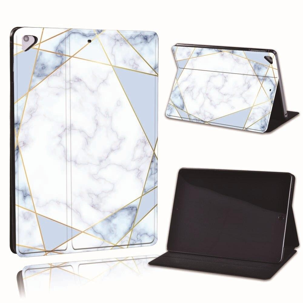 15.blue geometric Khaki For Apple iPad 8 10 2 2020 8th 8 Generation A2428 A2429 Slim Printed Geometry PU