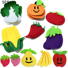 Educational Fruits Vegetables Toys Learning Materials for Kids Wall Stickers Decor