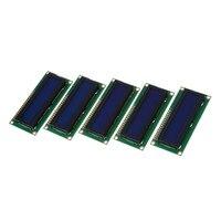 5x1602 16x2 caracteres lcd lcm módulo de exibição hd44780 controlador luz de fundo azul|Paracord| |  -