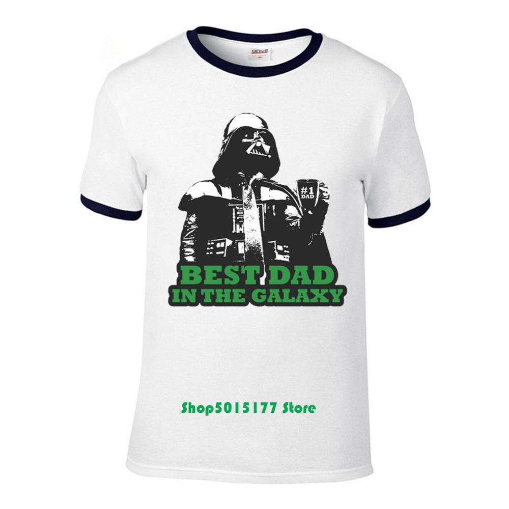 Best Dad In The Galaxy Mens T Shirt Funny Birthday Father/'s Day