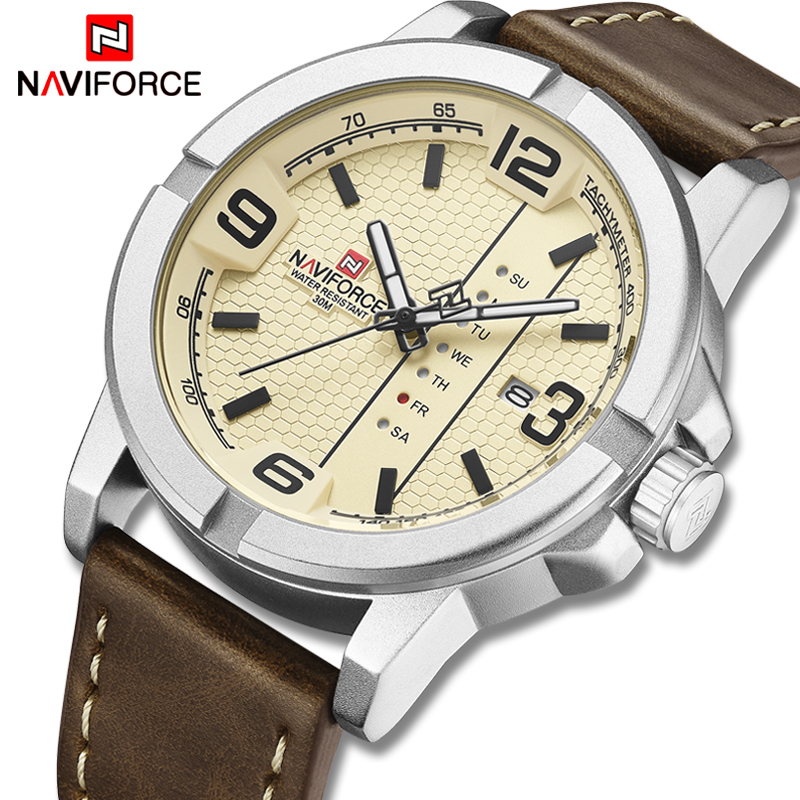 Top Luxury Brand NAVIFORCE Fashion Quartz Men's Watch Casual Army Sport Men Watches Leather Analog Male Clock Relogio Masculino