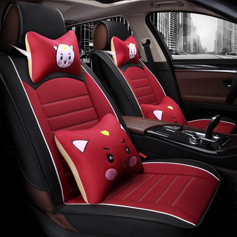 Full Coverage Flax Fiber Car Seat Cover Auto Seats Covers For Lifan Smily Lifan530 Lifan Solano Lifan720 Murman Lifan X50 X60lf6