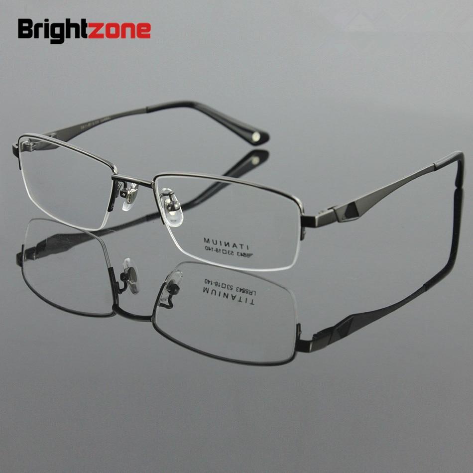 2019 New Arrival 100% Pure Titanium Men Eyeglasses Myopia Eyewear Prescription Glasses Spectacles Good For Progressive Lenses