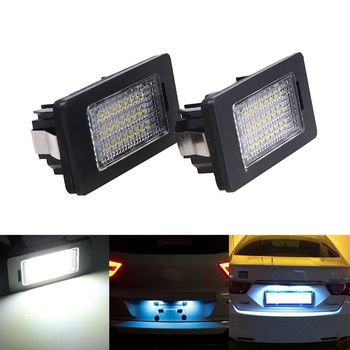 POSSBAY 24 SMD Car LED License Light Lamp for BMW E82 E88 E39 E60 E60N E61 E70 E71 E90 E90N E91 E92 E93 M3 Rear Tail Lights image