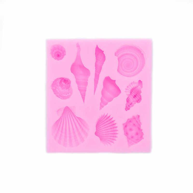 5 รูปแบบ Marine สิ่งมีชีวิต Series แม่พิมพ์ตกแต่งเค้กซิลิโคน 3D Mermaid TAIL Fondant Cupcake แม่พิมพ์ DIY Handmade SOAP Mold