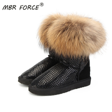 Winter Shoes Mbr-Force Genuine-Leather Snow-Boots Female Fashion Women Fur Ship Real-Fox-Fur