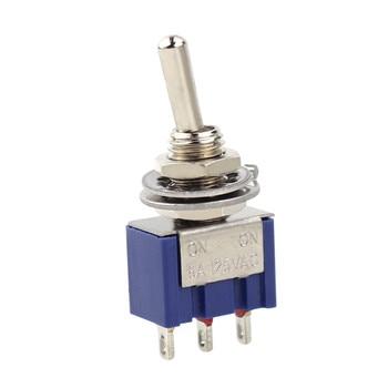 цена на 5pcs/lot Mini MTS-102 3-Pin G107 SPDT ON-ON 6A 125V 3A250VAC Toggle Switches Good Quality S