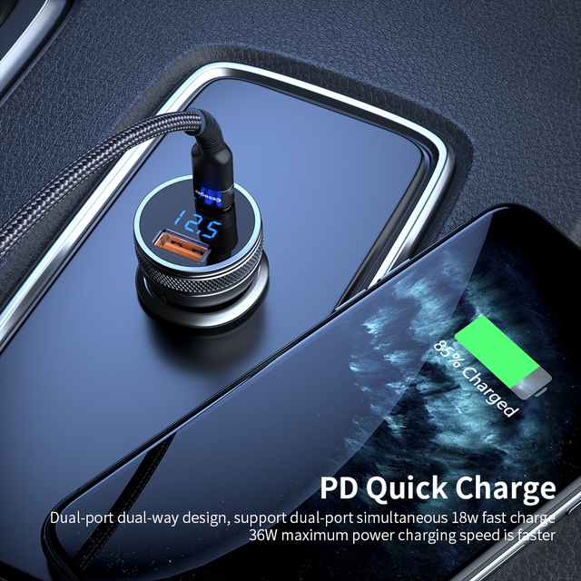 Essager Mini USB Car Charger Quick Charge 3.0 Fast Charging Charger For iPhone Xiaomi Auto Type C QC PD 3.0 Mobile Phone Charger