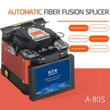 Máquina de emenda da fibra ótica do splicer da fusão A 80S alaranjada máquina automática do splicer da fusão