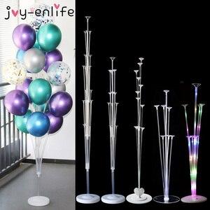 7 Tubes Balloons Stand Balloon Holder Column Confetti Balloon Baby Shower Kids Birthday Party Wedding Decoration Supplies(China)