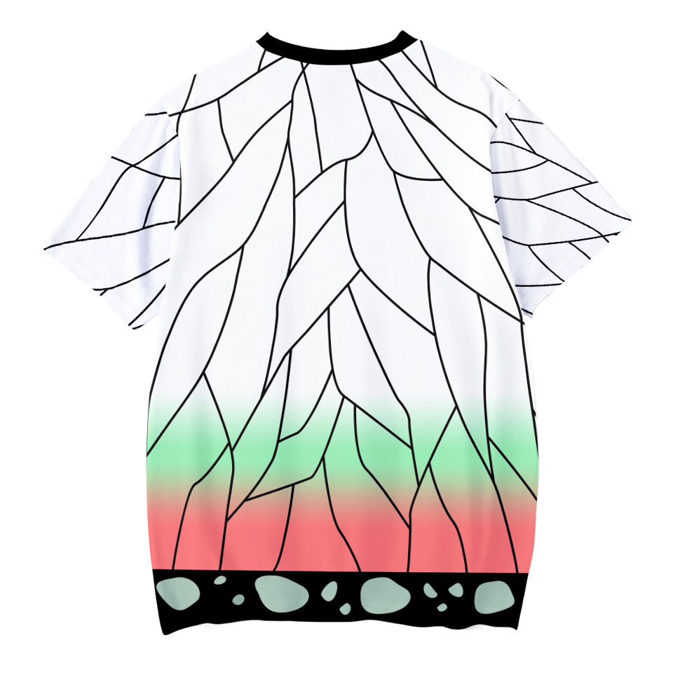 H37eb9d0b680b4eab94152b069d217a2bS Kids Boys Devils killer T-shirts 3d Print Cosplay Japanese Ghost blade Children Summer Short Sleeve Tshirts Demon Slayer Clothes