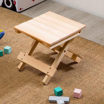 Przenośny składany stołek łatwy montaż drewniane stabilne krzesło mała ławka do siedzenia lub stołek do domu na dziedzińcu tanie i dobre opinie CN (pochodzenie)