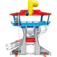 Łapa Patrol pies plastikowy zestaw zabawek obserwatorium zabawki Patrulla Canina zabawka z głosem Action Figures modelu zabawki zabawki dla dzieci prezenty A15