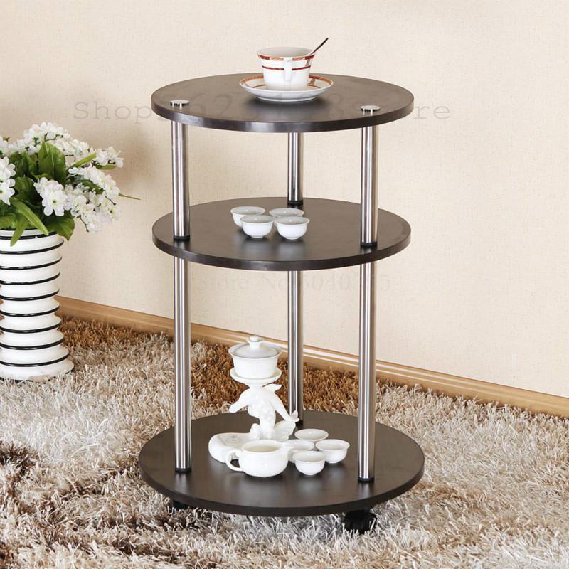 Мобильный Маленький журнальный столик круглый простой современный чайный столик кунг-фу креативная гостиная с круглой чайной тележкой жур...