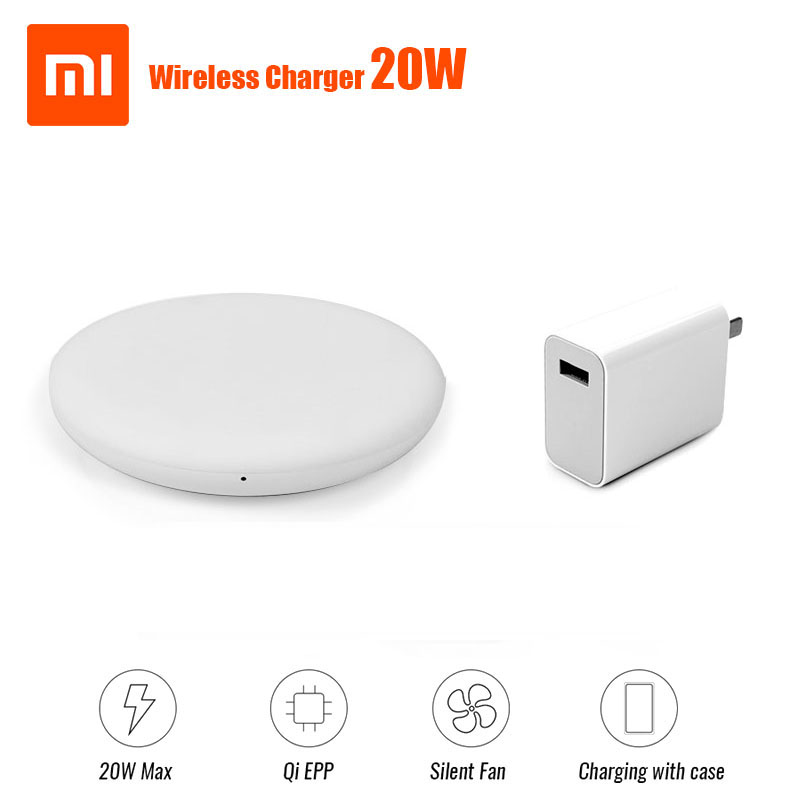 Hot Koop Original Xiaomi Wireless charger 20 w MAX 27 w PLUG To Mi 9 (20 w) mi x 2 s/3 qi EPP10W For iPhone XS XR XS MAX-in Mobile Phone Chargers from Cellphones & Telecommunications
