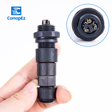 Aviation Waterproof Connector 15A IP68 2/3/4/5/6/7/8/9/10/11/12 Pin Sensor Docking Male Female Plug and Socket Connectors hp20 series 6 pin plug socket industrial connectors cable connector 6 pin aviation connector rated current 15a
