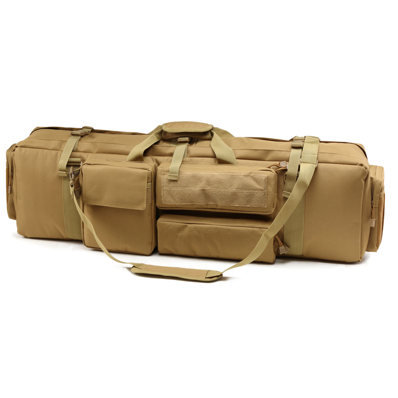100cm M249 Tactical Gun Bag Dual Rifle Case Shoulder Carrying Backpack Outdoor Military Paintball Airsoft Hunting Shooting Bags
