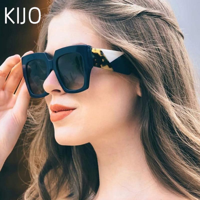 2019 Double Eleven Square Oversized Sunglasses Women Luxury Brand New Designer Gradient Sun Glasses Big Frame Vintage Eyewear