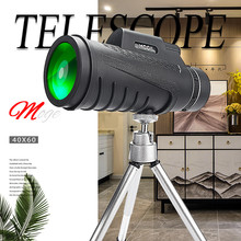 40*60 Powerful Monocular Telescope Lense Long Rang Prismatic Professional Scope Optics For Hunting Camping Tourism