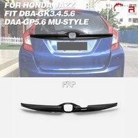 Car Accessories For Honda Jazz Fit 14 17 DBA GK3.4.5.6 DAA GP5.6 MU Style PU Tailgate Garnish Plastic Rear Splitter Lip Trim