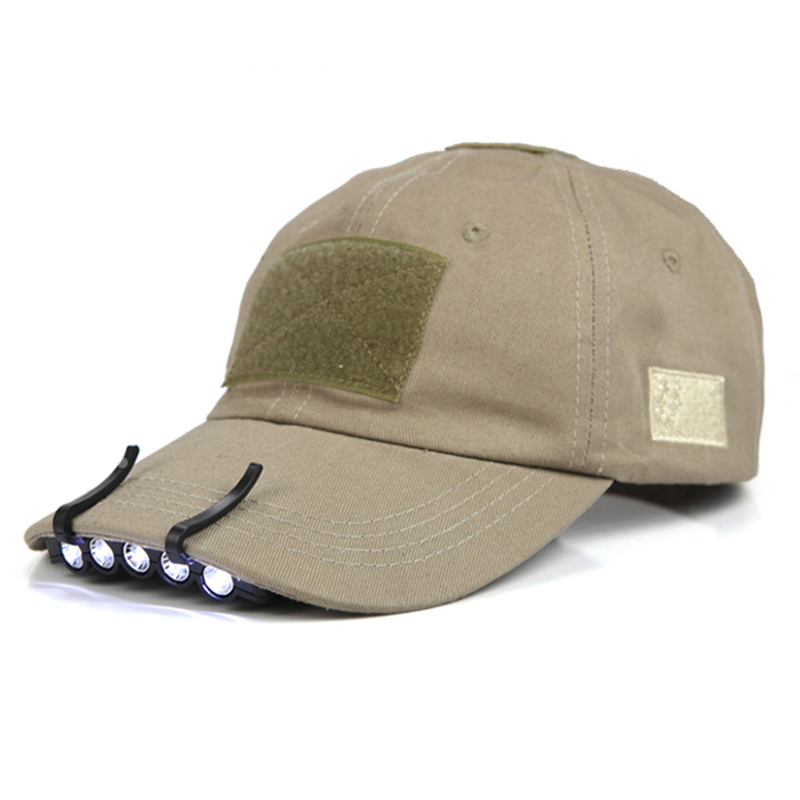 Camping 5 LED Hat Brim Lights With Two Lighting Modes White Lamp Hunting Sports Hiking Cap Light Night Fishing Outdoor Lighting