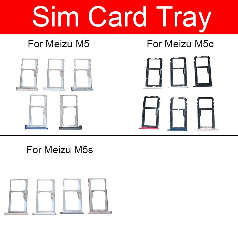 SIM Card Tray Holder For Meizu Meilan Blue Charm M5 M5c M5s M611A M611H Micro Sim Card Slot Adapter Replacement Repair Parts