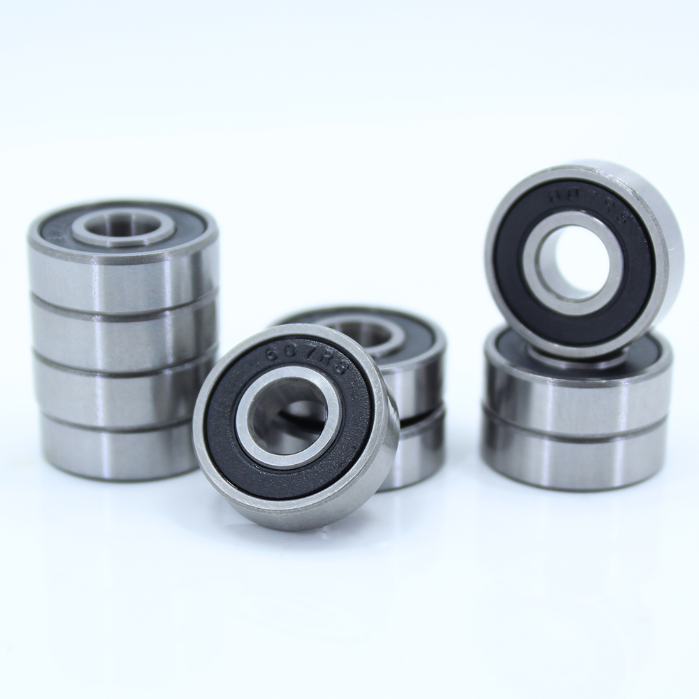 7*19*6 Mm 10Pieces 607RS Bearing Rubber Sealed Miniature Mini Ball Bearing 607 RS Chrome Steel Bearings