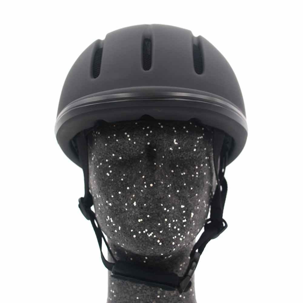Profissional cavalo equitação capacete ajustável tamanho meia face capa protetora chapelaria equipamentos seguros para cavaleiros questrian
