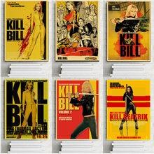 Quentin tarantino matar bill filme cartazes retro kraft papel cartaz de impressão para casa decoração da parede quarto clássico filme cartaz