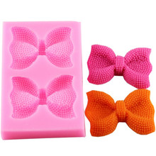 2 Style Cute Bows Silicone Mold chocolate fondant cake decoration baking Moulds Cake Tool Chocolate