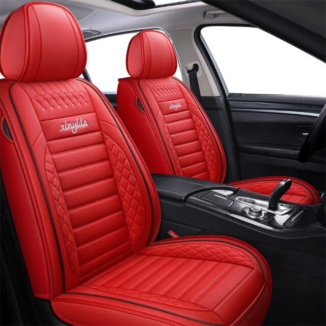 Universal Leather Car Seat Cover for Kia rio morning stinger niro cerato mohave sorento stonic soul sportage Seat Cover Interior 6