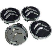 Embellecedor Para Llanta Compatible Con Citroen 60 Mm (4 Uds) Negro