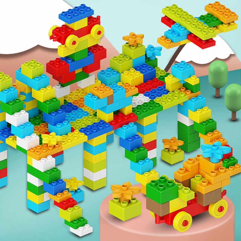 Stadt Tiere Park DIY Gebäude Große Blöcke Duploed Kreative Roboter Große Partikel Bricks Bildung Spielzeug für Kinder