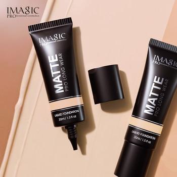 IMAGIC Foundation Cream Matte Oil Control Long-lasting Liquid Foundation Waterproof Face Makeup Full Coverage Concealer TSLM1 недорого